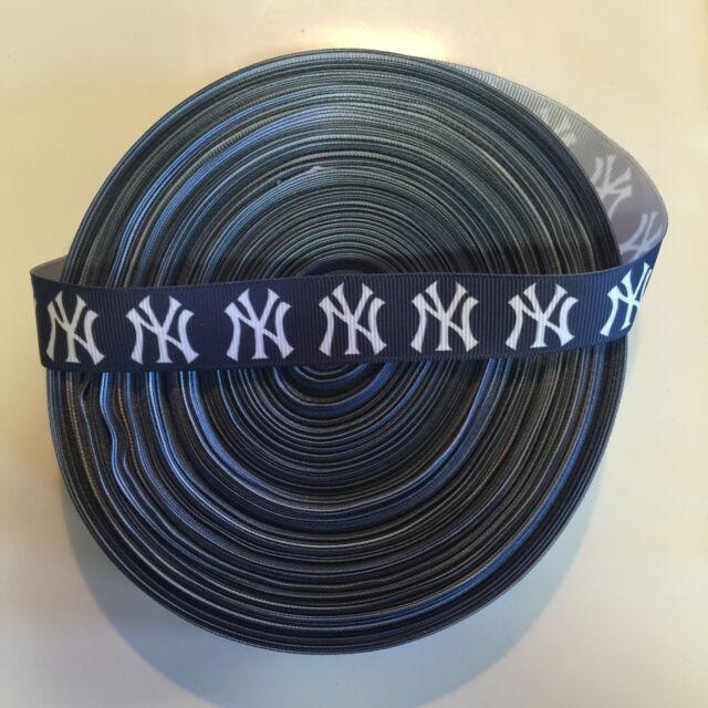 "7/8"" New York Yankees Grosgrain Ribbon by the Yard (USA SELLER!)"