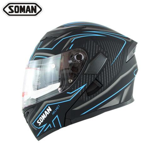 DOT Double Visors Motorbike Flip Up Modular Helmet Motorcycle Full Face Helmets