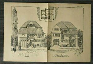 GFA-Blatt-Landhaus-1926-Architektur-Werner-Issel-Grundriss-Villa-Fassade-Garten