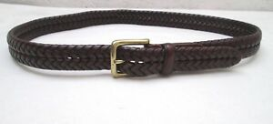 AUTHENTIQUE-ceinture-FOSSIL-cuir-vintage-T-90