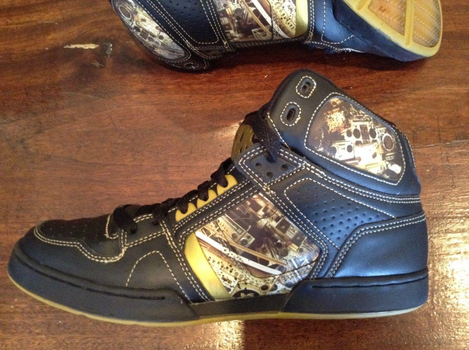 Osiris Exact Science BRONX scarpe Uomo 12 BOOMBOX nero oro oro oro EUC 80s Inspirosso c024c0