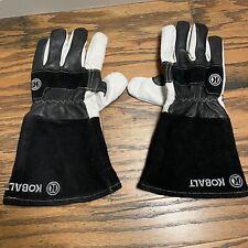 Welder Welding Gloves Kobalt Mig Stick Size Large Lambskin Cowhide White Long