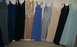 NEW! Lot of 19 beaded and unbeaded long formal gowns evening dresses Variety
