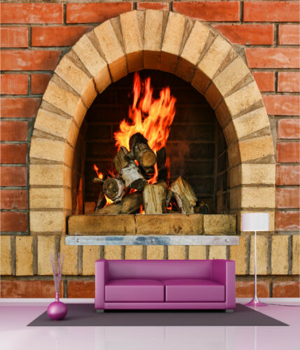 Wallpaper Giant Decoration Fireplace Ref 4536