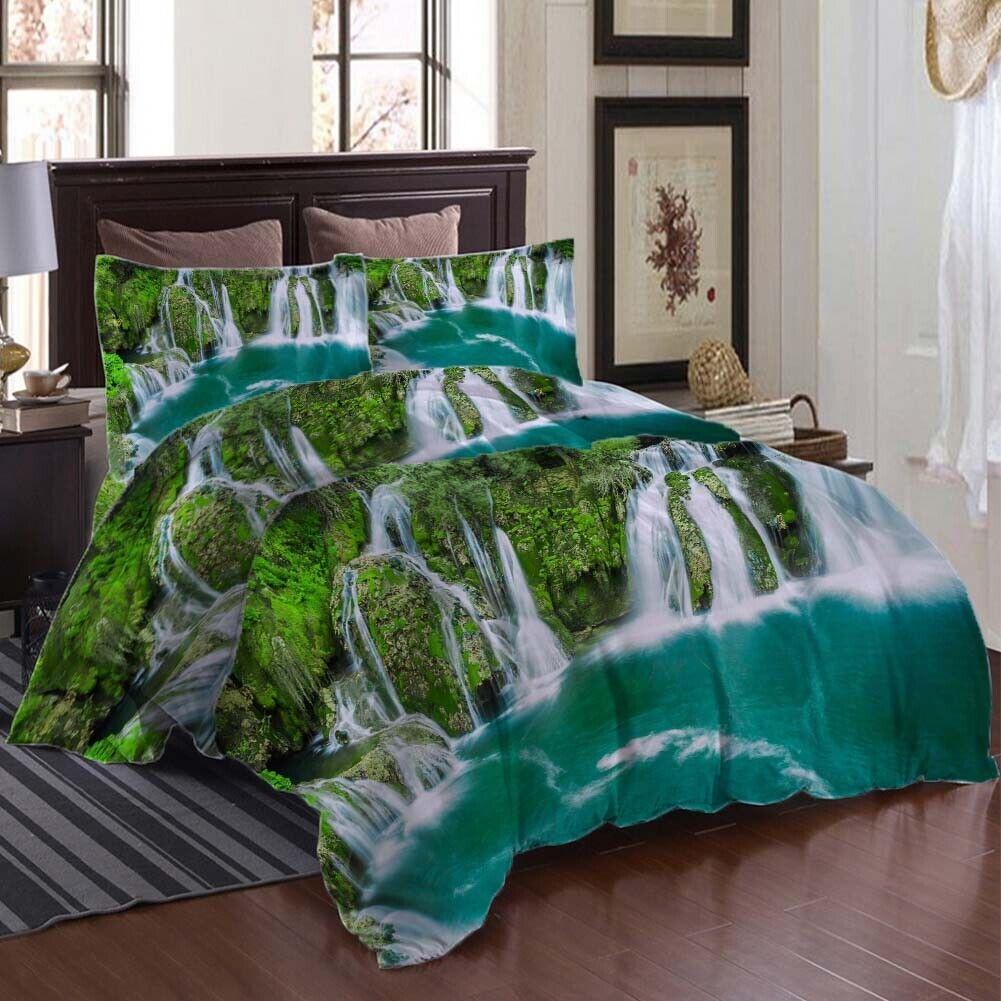Blau Pool Clear 3D Printing Duvet Quilt Doona Covers Pillow Case Bedding Sets