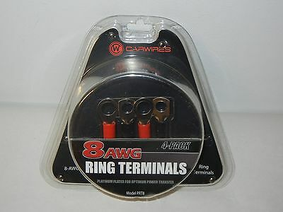 Carwires PRT4 4-AWG Crimp Ring Terminals 4-Pack Car and Vehicles Electronics