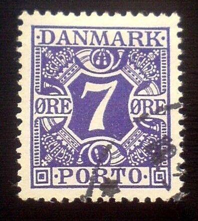Danmark, stemplet, Porto frimærker