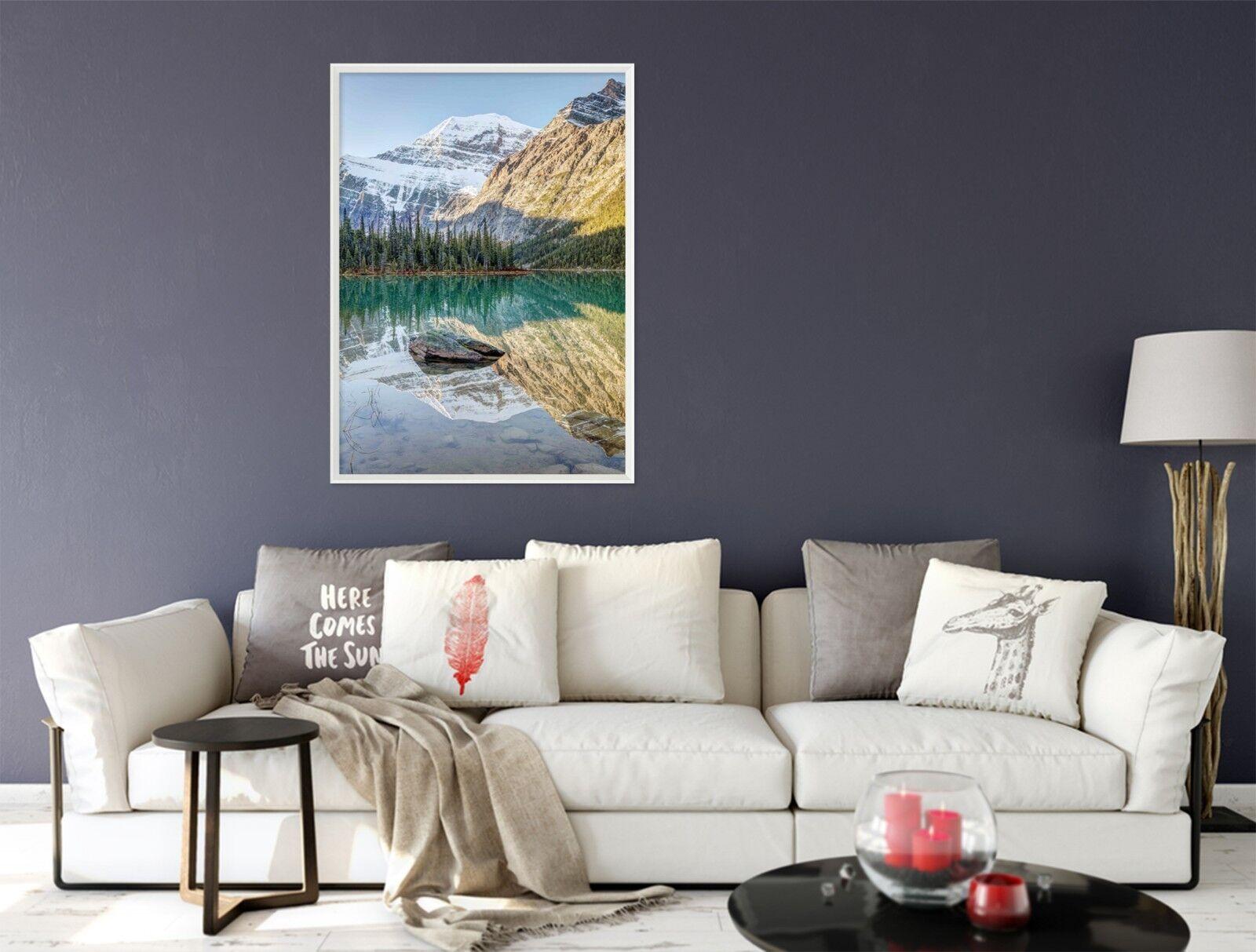 3D Mountain Peak Lake 6 Fake Framed Poster Home Decor Print Painting Unique Art