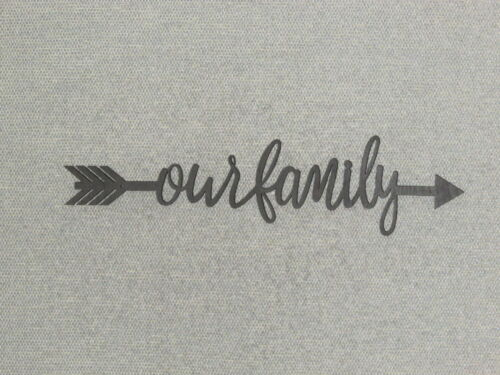 Our Family Word Arrow Wood Wall Sign Home Decor