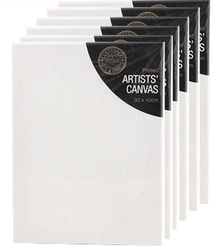 "30 x 40 cm CANVAS STRETCHED ARTIST PRIMED BOX FRAMED 100/% COTTON ART 12 x 16/"""