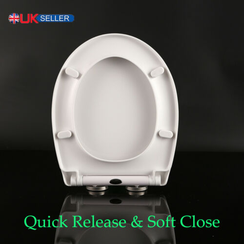 Toilet Seat Soft Close Quick Release AdjustableMental Hinges Bath Heavy Duty UK