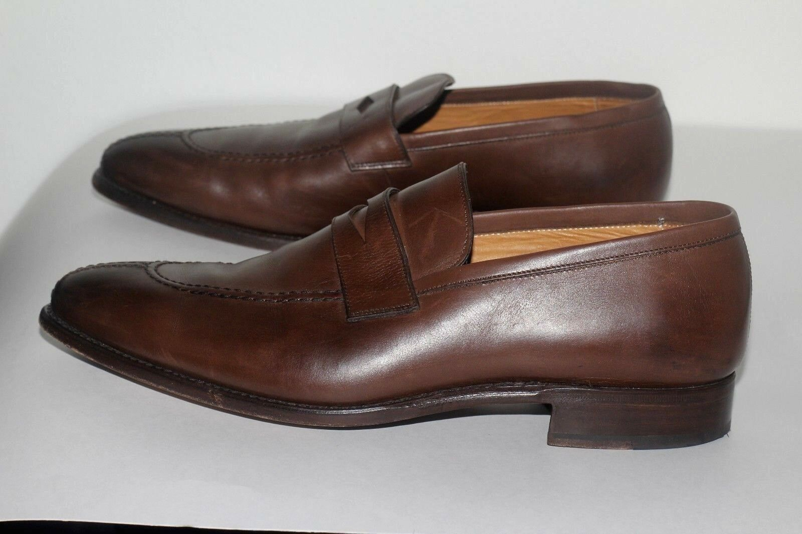 Fred Finlay Leather PENNY LOAFERS Men's shoes sz Uk 9.5 us 10.5 goodyear Welt
