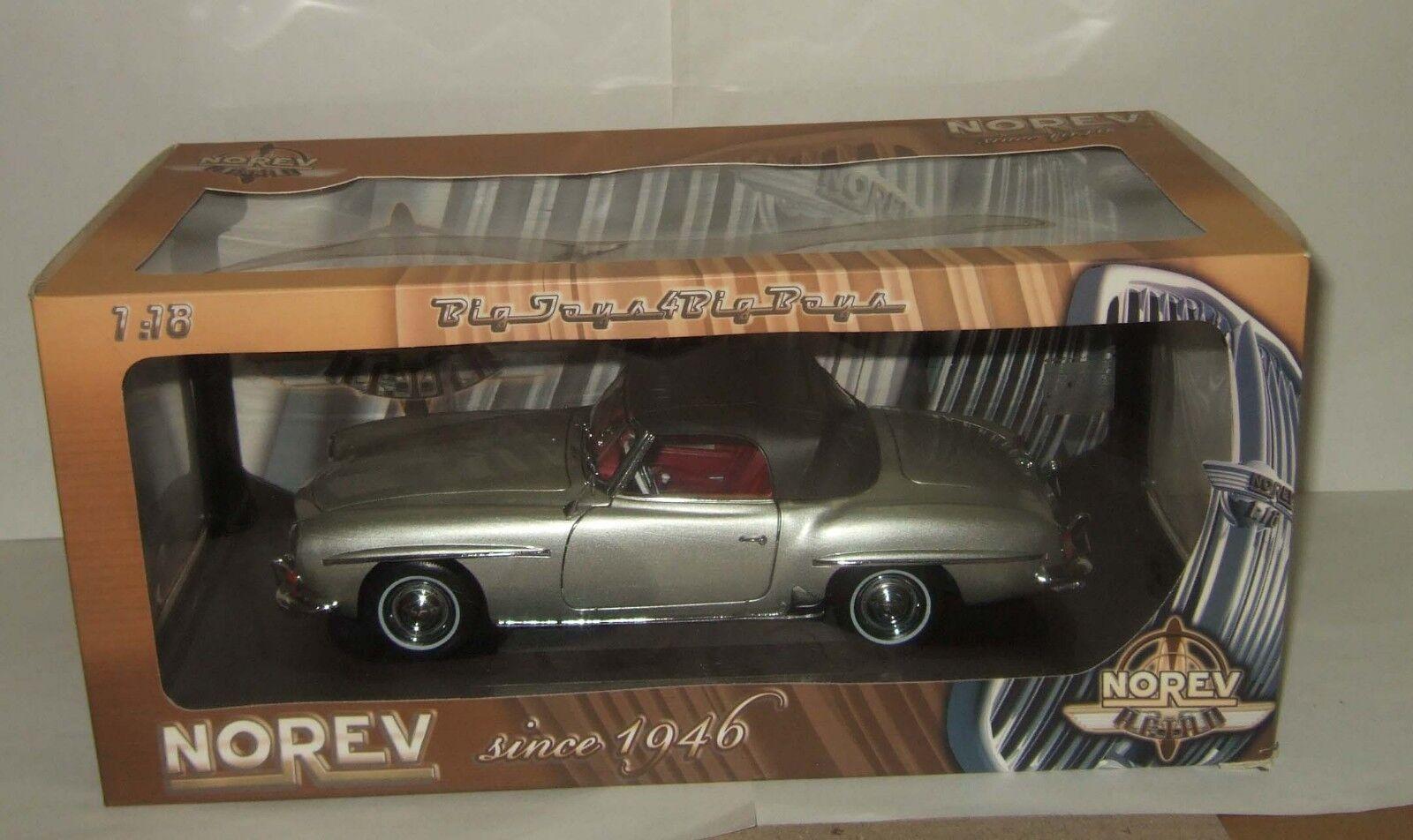 alta calidad 1 18 Norev Mercedes Benz 190 SL SL SL W121 Plata 1956 Rara  mas preferencial
