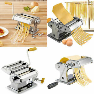 Pasta-Maker-Kitchen-Spaghetti-Roller-Lasagne-Tagliatelle-Cutter-Manual-Machine