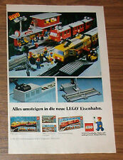 Seltene Werbung LEGO Trains Eisenbahn 7740 Trans-Europa-Express 7725 Zug 1981