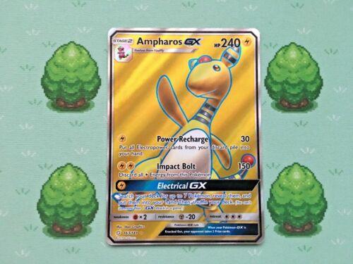 Full Art Pokemon 163//181 SM Team Up Ampharos GX