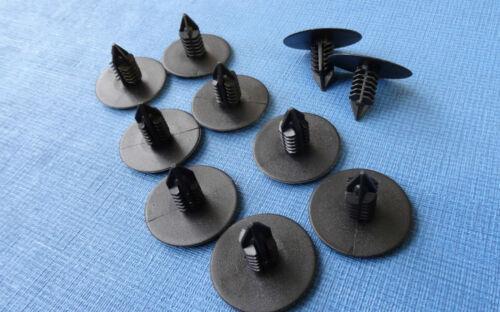 10X HYUNDAI BLACK Fir Tree Interior Door Cards Panel Moulding Plastic Trim Clips