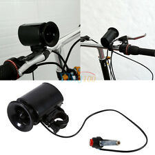 Black 6 Sounds Cycling Bicycle Bike  Alarm Electronic Bell Horn + 9V Battery GW
