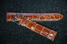 Camille Fournet 20mm Alligator Watch Strap Golden Brown Glossy