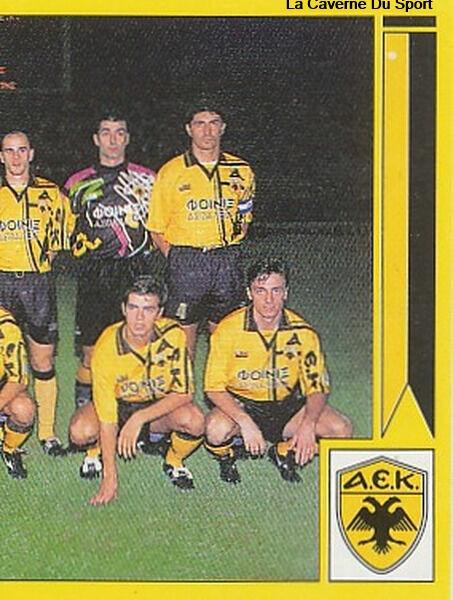 N°005 TEAM 2/2 AEK ATHENS GREECE HELLAS PANINI GREEK LEAGUE FOOT 95 STICKER 1995