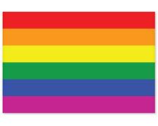 """Gay Pride Rainbow Flag car bumper sticker 5"""" x 4"""""""