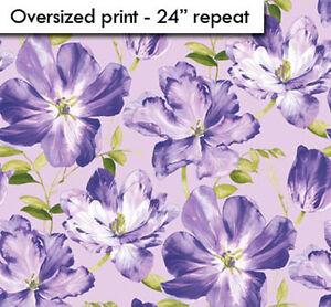 Northcott Splendor Purple Lavender Violet Green Floral Big Rose ... : rose quilt fabric - Adamdwight.com