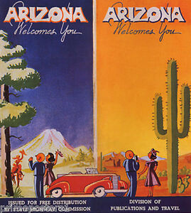 ARIZONA WELCOMES YOU COWGIRL SONORAN DESERT USA TRAVEL VINTAGE POSTER REPRO