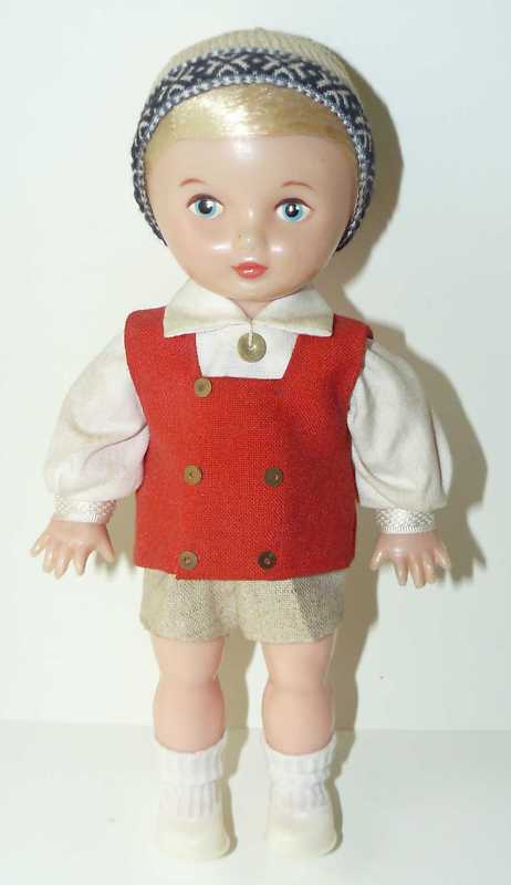 Estonian National Costume Souvenir Doll Tomas 1970s