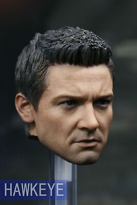 """1//6 Scale Hot Toys Civil War Hawkeye Head Carving Model F 12/"""" Action Figure Toy"""