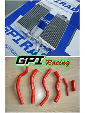 FOR HONDA CR125R/CR125 1990-1997 96 95 94 93 92 aluminum radiator &RED hose