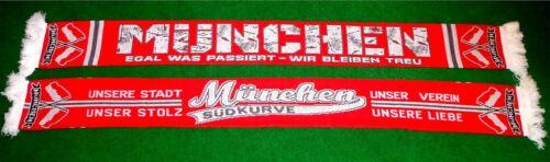 """München Schal /""""EGAL WAS PASSIERT/"""" Fan Supporter Ultra NEU 100/% Acryl 150x15 cm"""