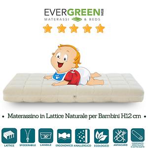 DéSintéRessé Materasso Lattice Per Bambini Lavabile Sfoderabile Ever Baby Latex Evergreenweb