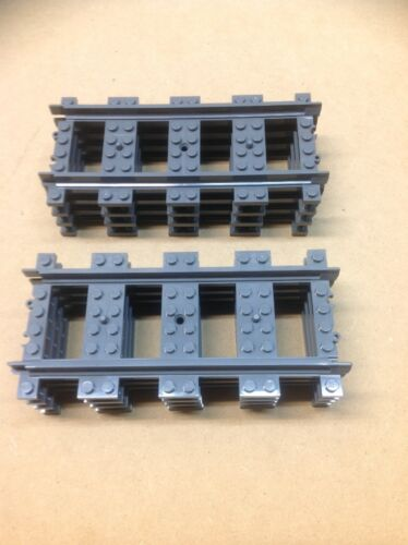 8 LEGO Straight train track 7499//7896//60205//60197//60198 New