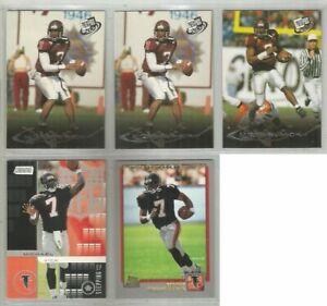 Michael-Vick-Atlanta-Falcons-Virginia-Tech-5-card-2001-RC-lot-4-different