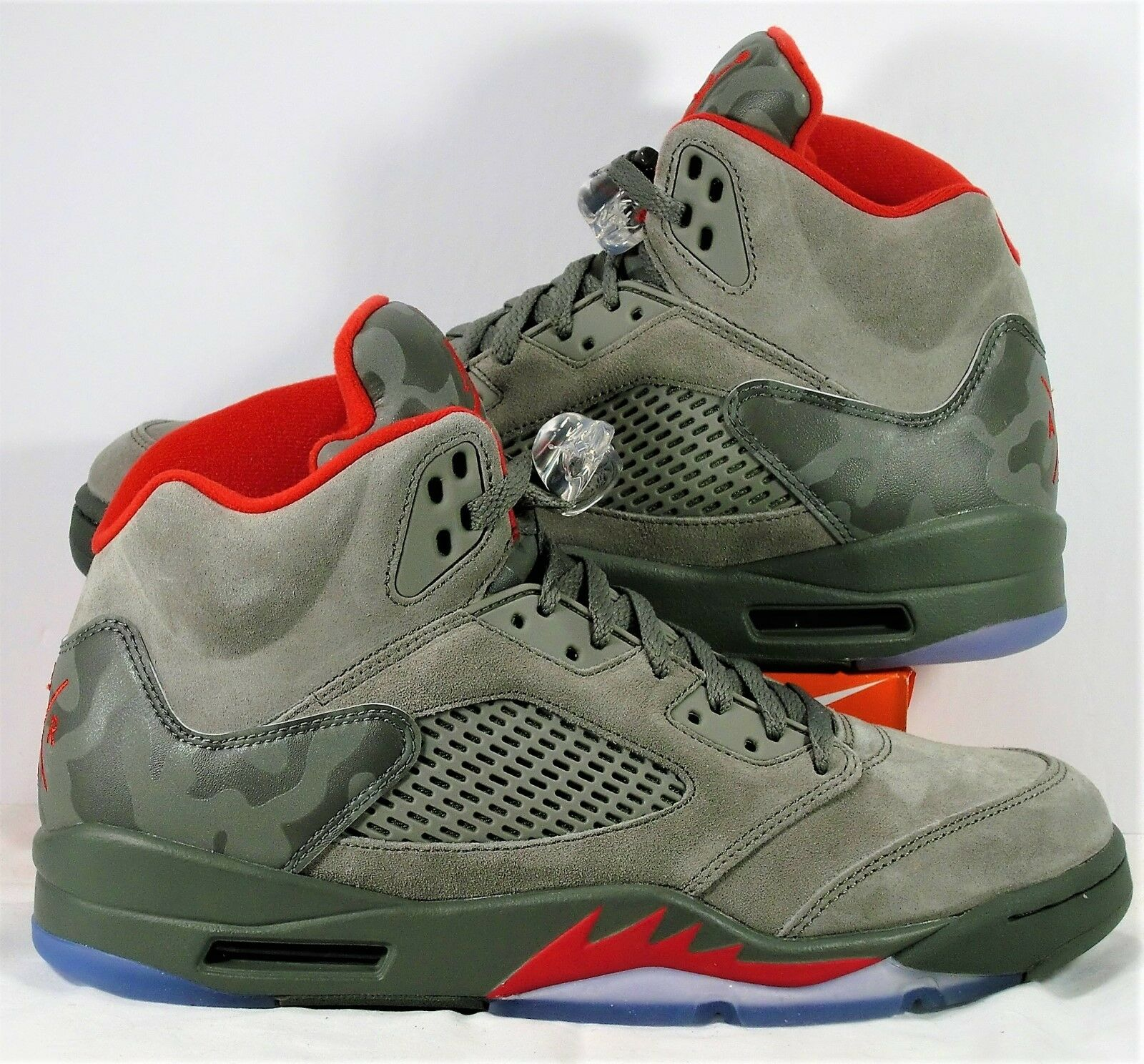 Nike Air Jordan Retro 5 V 3M Camo Camoflauge Stucco & Red Sz 10 NEW 136027 051