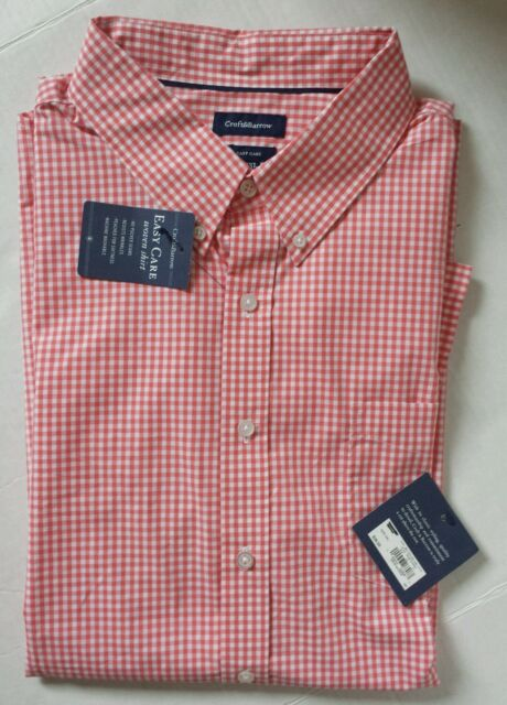 Men/'s Croft/&Barrow Long Sleeve Shirt Easy Care Peached for Softness