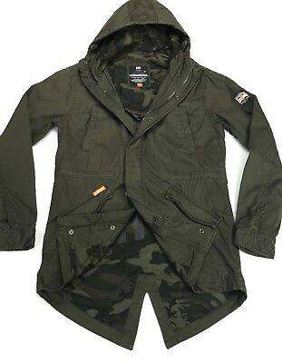 Latest Superdry Rookie Military Parka Jacket Deepest Army