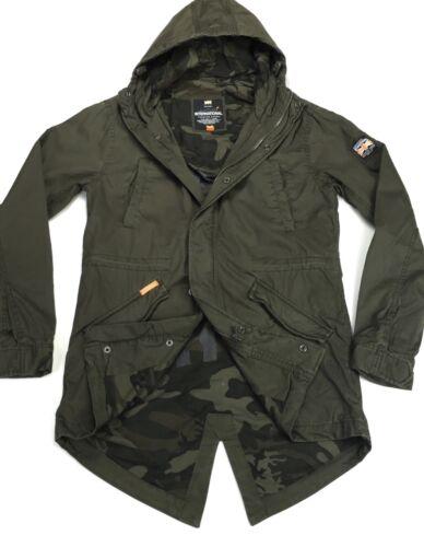 RRP £129 Superdry Rookie Military Hooded Parka Jacket