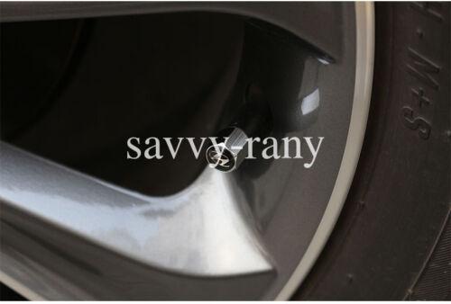 Car Black Tire Tyre Wheel Valve Stems Cap For Jaguar All Model 4PCS//SET