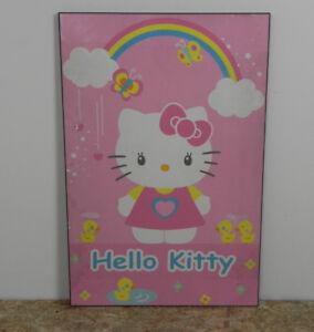 Poster hello kitty su tavola di legno mdf 61x91 quadro stampa