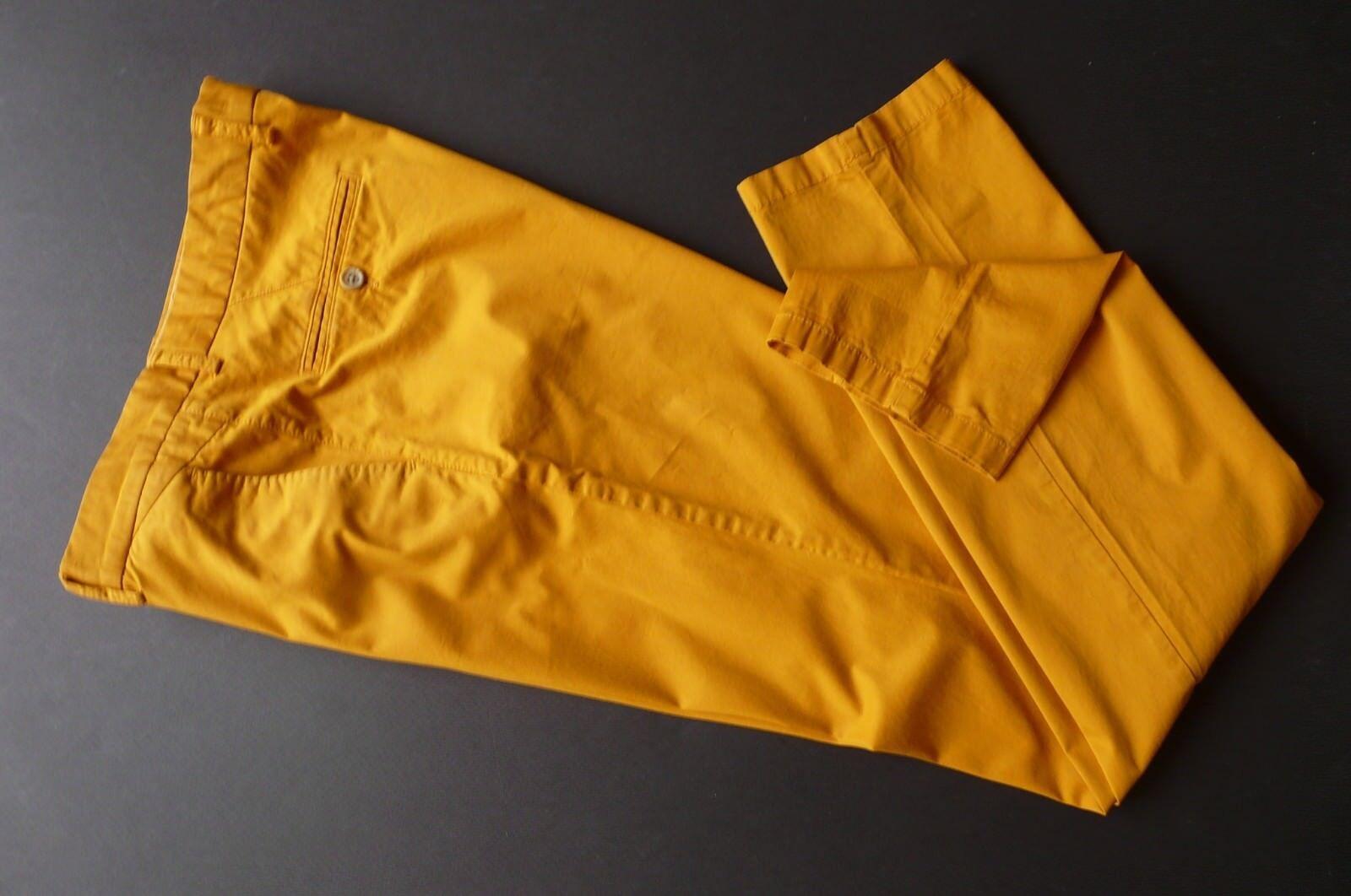 MAS O  MILANO 97% COTTON SLIM FIT BRIGHT orange COLOR PANTS sz 36 ( EUR-sz 46)  high quality genuine