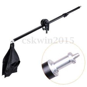 Photography-Studio-Light-Stand-Telescopic-Boom-Arm-w-Sandbag-Grip-For-75-135cm