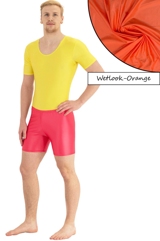 Herren Wetlook Hotpant starker Glanz Glanz Glanz stretch shiny elastisch hauteng S bis XL    Quality First  78bee8