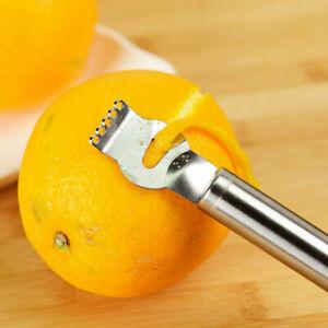 Zester-Zestenreisser-Edelstahl-Reibe-Zitrone-aeussersten-Fruchtschale-Q1S5-R1U2