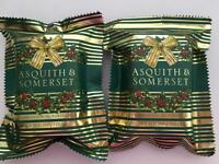 2 Pack Asquith & Somerset Festive Holly Holiday Triple Milled Bar Scented Soap