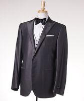 $2295 Corneliani Three-piece Silvery Gray Wool-silk Tuxedo 42 R Suit