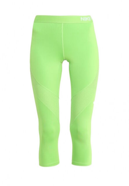 upouusi suosituin paras paikka Women's Size Large L Nike Pro Hypercool Training Capris Leggings Green  725614