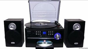 JENSEN-HOME-STEREO-CD-CASSETTE-RECORD-PLAYER-TURNTABLE-SYSTEM-AMFM-RADIO-NEW