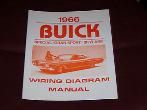 1966    BUICK       WIRING       DIAGRAM    MANUAL GS SKYLARK    SPECIAL    66   eBay