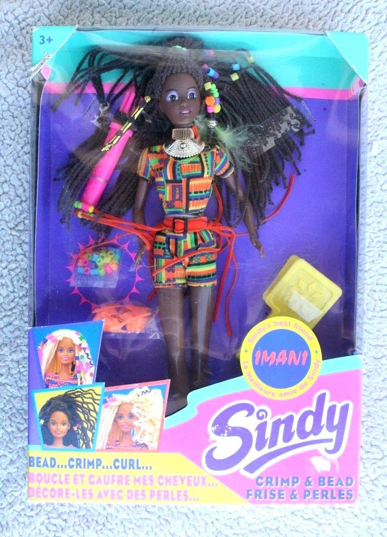 Imani AA Doll  a crimpare & Perline (Sindy'S BEST FRIEND ). HASBRO 1994  NUOVO con scatola, sistema operativo